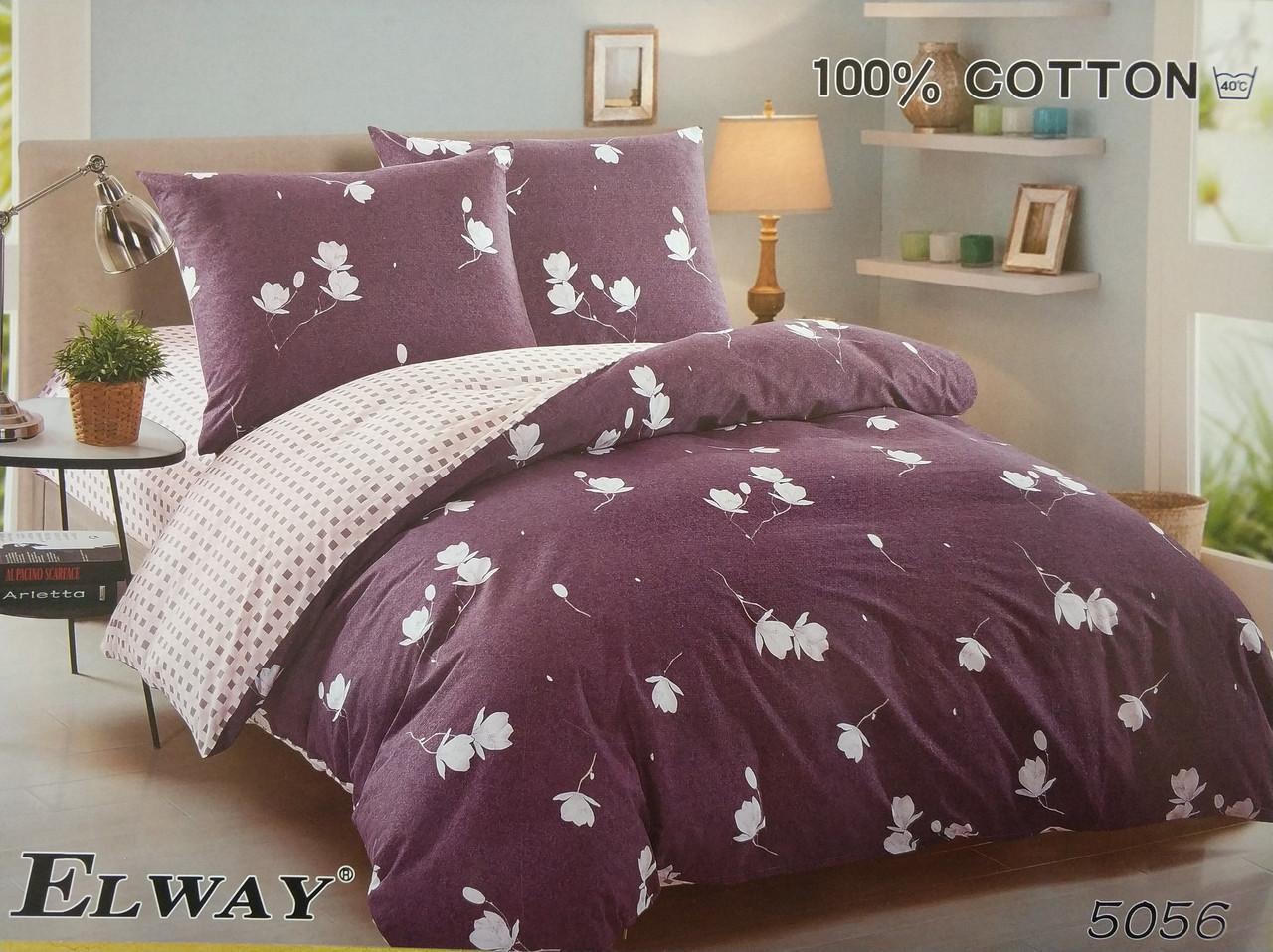 Сатиновое постельное белье полуторное  ELWAY  5056