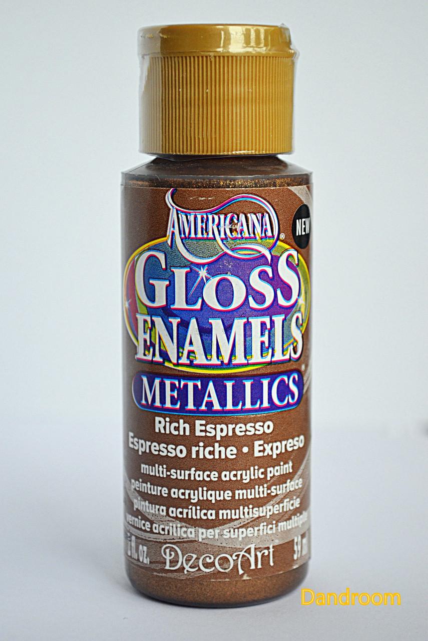 Краска акриловая непрозрачная, для стекла и керамики, Медь, Americana, 59 мл, DecoArt