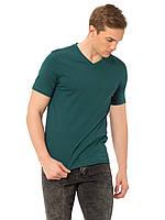 Зеленая мужская футболка LC Waikiki / ЛС Вайкики с V-образным вырезом, фото 1