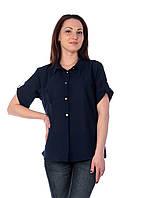 Блуза женская шифон прямая С5 (синий)