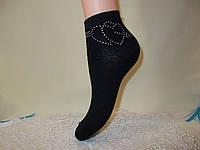 Женские короткие носки со стразами DEMEN accogliente 35-41 ИТАЛИЯ, фото 1