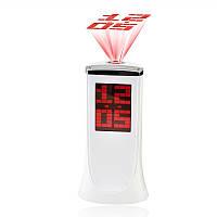 Настольный проекционный будильник 1136а, с поворотным корпусом, дата/часы/температура в комнате, 3*ааа