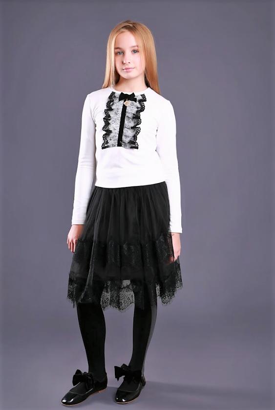 Детская одежда МОНЕ,трикотажная  кофточка с длинным рукавом (белая) р-ры 122,128,134,140,146,152