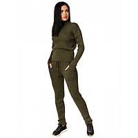 bb5490d24591 Шикарный теплый костюм женский вязаный брючный для отдыха и прогулок 42-46