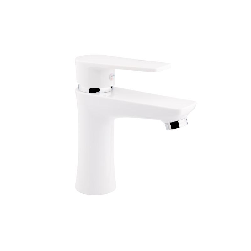 Смеситель для умывальника пластик Sanitary Wares Brinex 35W 001 белый