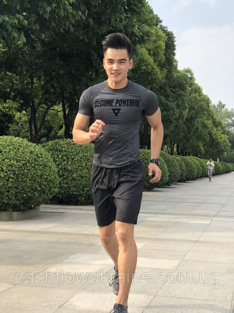 Мужская компрессионная футболка EVS Gray лот 4066 XXL, Серый