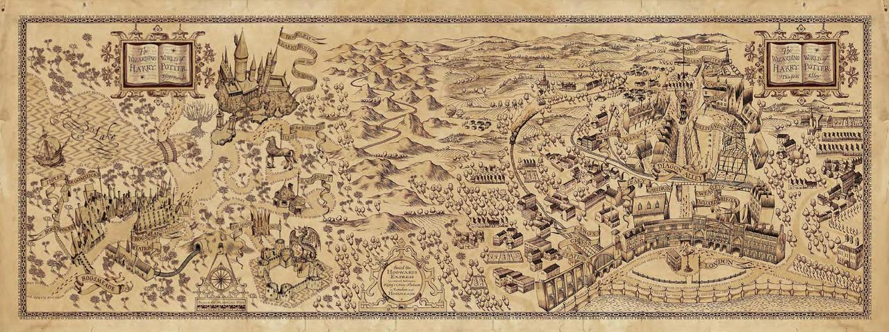 Карта волшебного мира Гарри Поттера