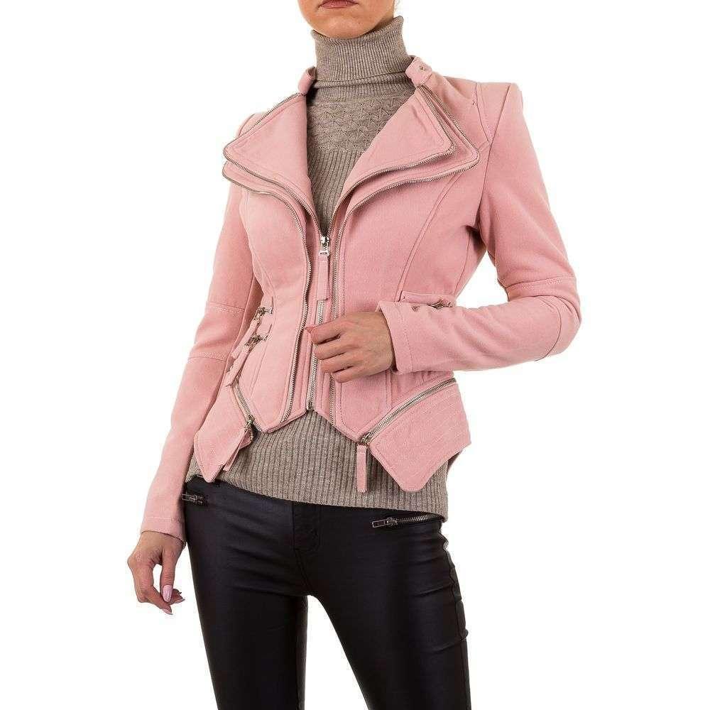 Куртка женская декорированная молниями Noemi Kent (Франция), Розовый