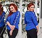 """Элегантная нарядная женская блузка до больших размеров 41232 """"Софт Рукава Рюши Кружево Вышивка"""" в расцветках, фото 7"""