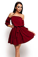 (S-M) Жіноче літнє марсалове плаття Sharlin
