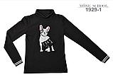 Гольф с собачкой (черный)  МОНЕ р-ры 128, фото 4