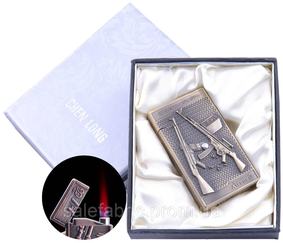 Зажигалка электронная в подарочной коробке Chenlong (Турбо пламя) №4060-2