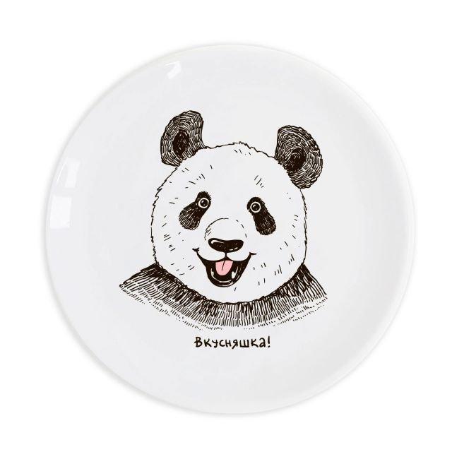 Тарелка «Панда вкусняшка» 25 см стеклокерамика (Luminarc)