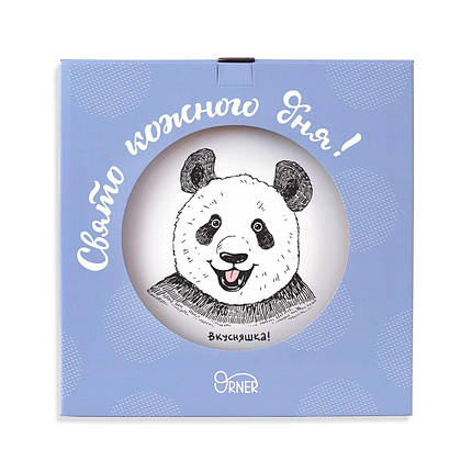 Тарелка «Панда вкусняшка» 25 см стеклокерамика (Luminarc), фото 2
