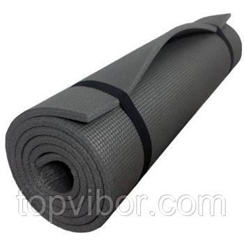 🔝 Коврик, каремат, для фитнеса и йоги, Profi Fitness (173x60 см.), цвет - чёрный | 🎁%🚚