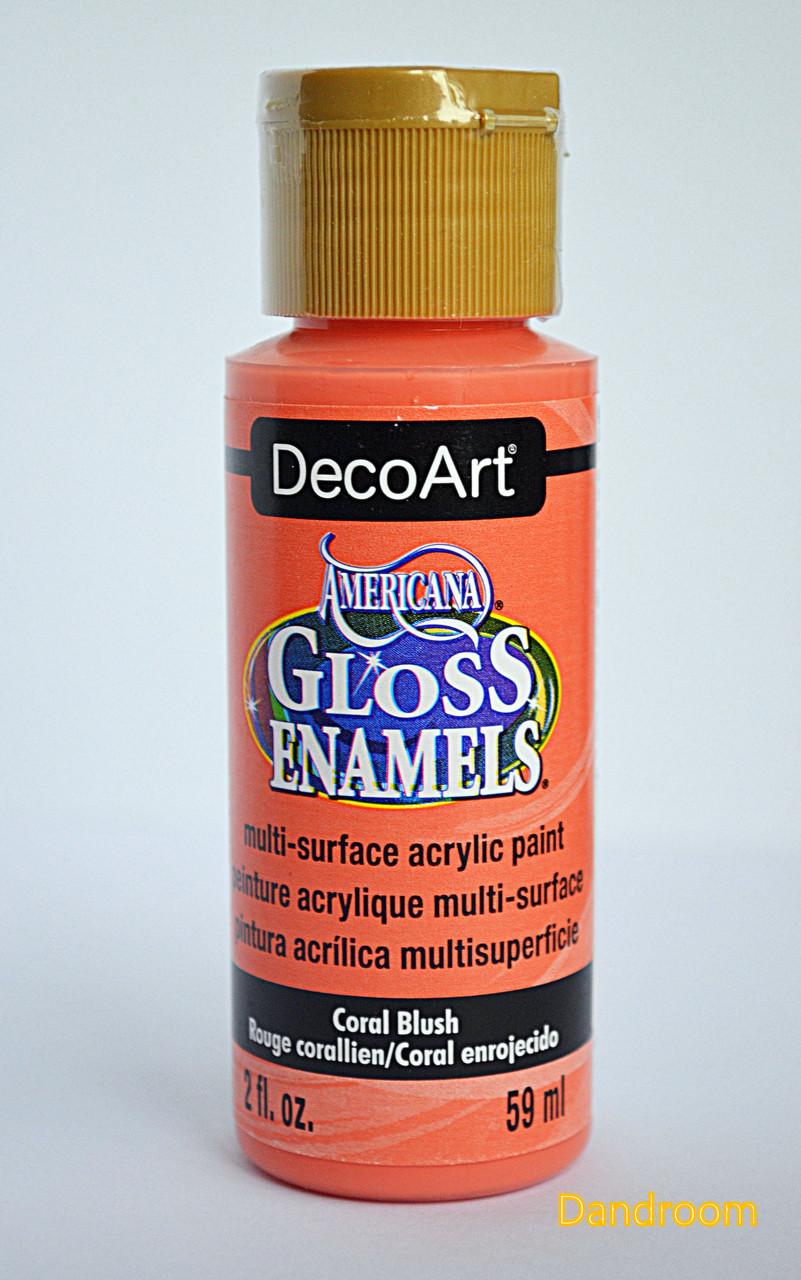 Краска акриловая непрозрачная, для стекла и керамики, Коралловая, Americana, 59 мл, DecoArt
