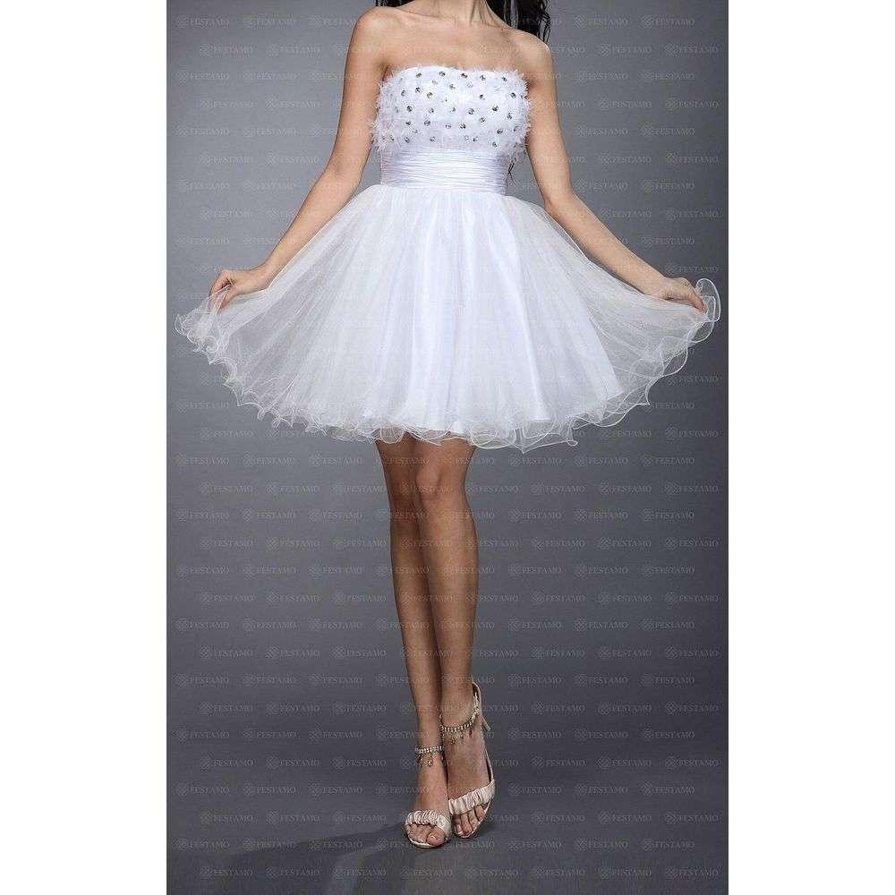 Женское платье от Festamo - белый - Мкл-F1500-белый