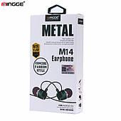 """Наушники MP3 """"Mingge M14"""" с микрофоном"""