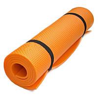 Коврик для йоги  каремат  Profi Fitness (173x60 см )  цвет - оранжевый