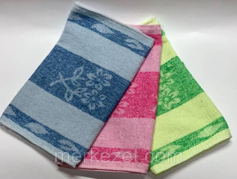 """Махровое полотенце для кухни """"Цветущая"""". Кухонные полотенце. Набор полотенец"""