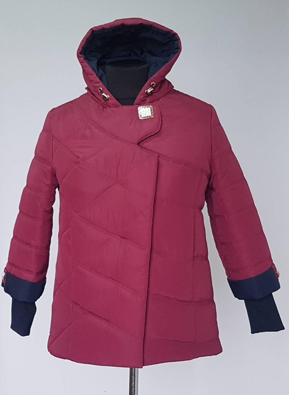 36b17346be2 Женская стеганная куртка «Брошка» большой размер  продажа