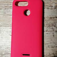 Оригинальный силиконовый чехол для Xiaomi Redmi 6 Розовый