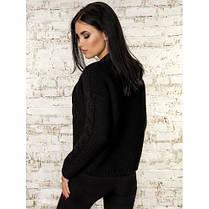 Вязаная короткая кофта кардиган  вязаный пиджак черный 42-46, фото 3