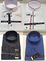 Турецкие приталенные рубашки с воротником-стойкой в ассортименте FIORENZO (размеры S.M.L.XL.XXL)
