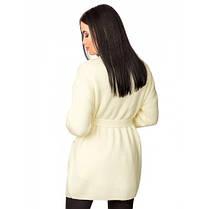 Вязаный черный кардиган пиджак кофта с поясом вязаная размер 44-50 оверсайз, фото 3