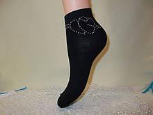 Женские короткие носки со стразами DEMEN accogliente 35-41 ИТАЛИЯ