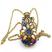 Аромакулон бронзовый с каменьями (5,5х4,5х2 см) Код:32330E
