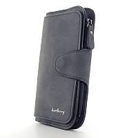 Черный кошелек bae-843 bla вертикальный женский на кнопке, фото 1
