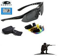 Тактические Очки «Oakley Polarized» с 5 сменными линзами и защитой UV400