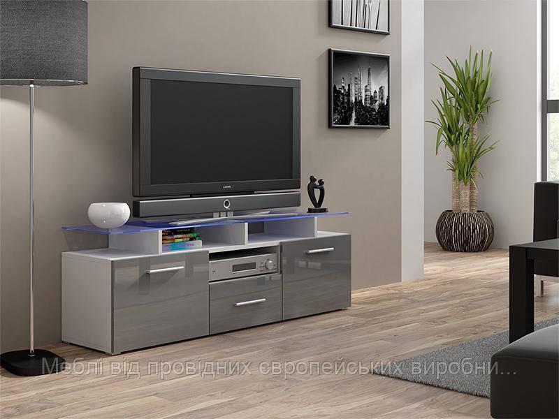 TV тумба Evora Mini Белый мат / Серый глянец Cama