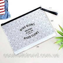Сумочка жіноча прозора силіконова c малюнком Wind River 6L (пляж, сауна, басейн) 29.5*22 см Розмір L, фото 3