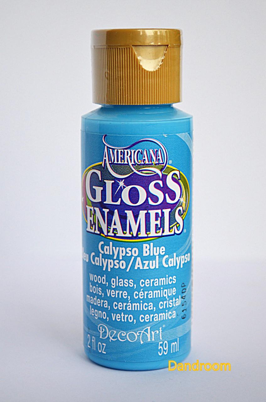 Краска акриловая непрозрачная, для стекла и керамики, Морская волна, Americana, 59 мл, DecoArt
