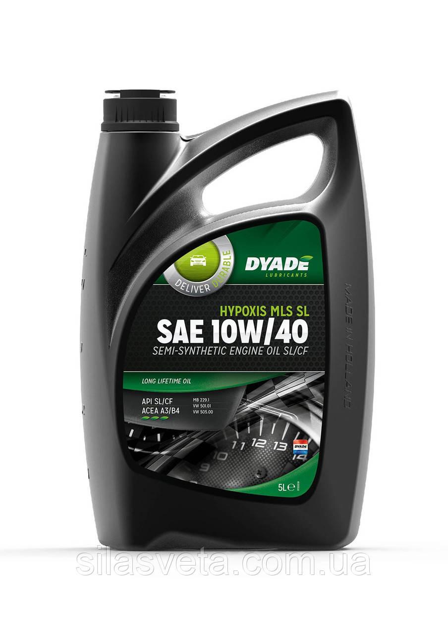 Автомобильное моторное масло полусинтетическое DYADE Hypoxis MLS SL SAE 10W/40 (5Л)