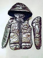 Куртка-жилет для дівчинки «Аліка», фото 1