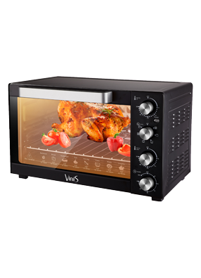 Электродуховка  VINIS VO-6021B (конвекция, пицца, гриль, подсветка), фото 2
