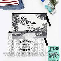 Сумочка жіноча прозора силіконова c малюнком Wind River 6L (пляж, сауна, басейн) 29.5*22 см Розмір L, фото 2