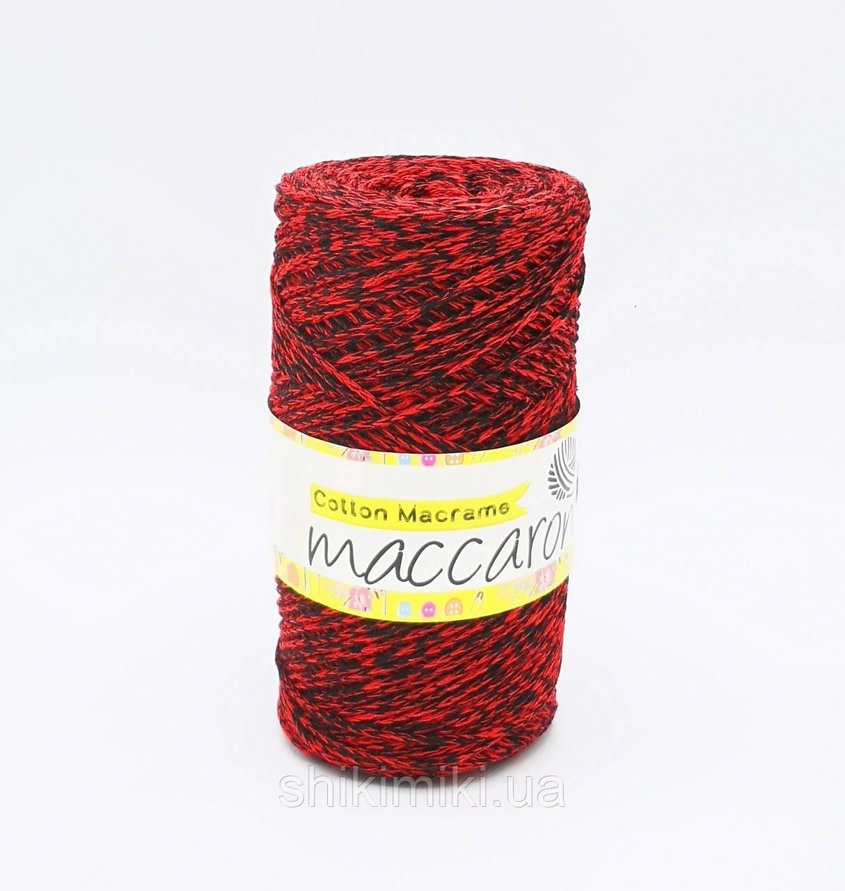 Эко Шнур Cotton Macrame, цвет Красно-черный