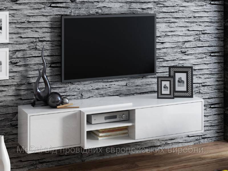TV тумба Sigma 1 Белый мат / Белый глянец Cama