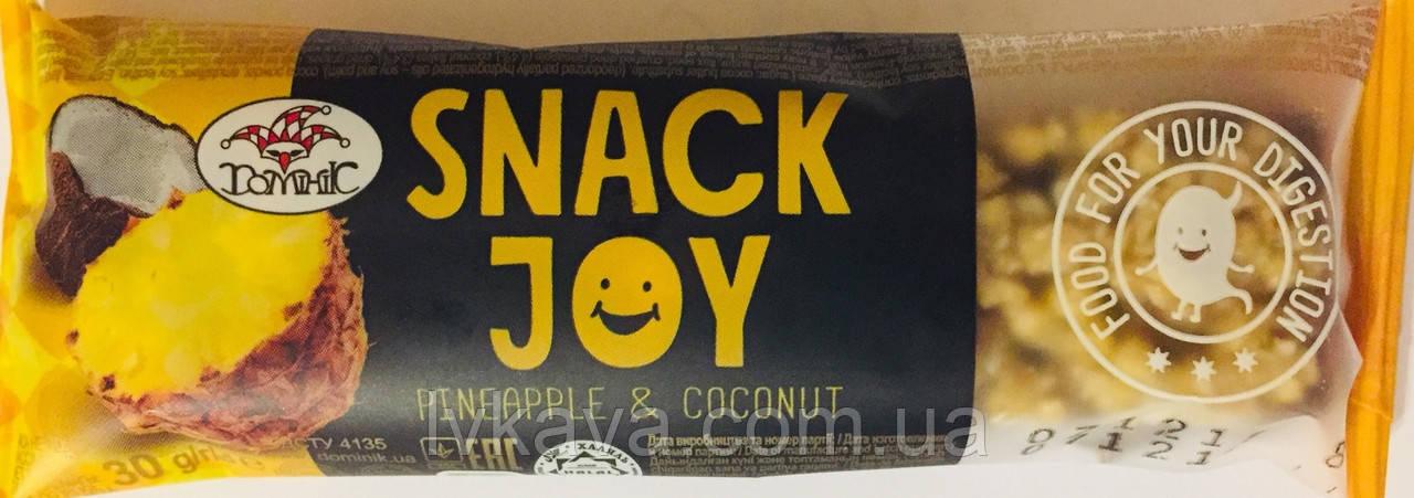 Мультизлаковый батончик Snack Joy з анасом і кокосом Домінік , 30 гр