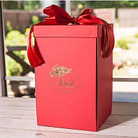 Подарочная коробка для розы в колбе Lerosh - 43 см, Красная - 138977