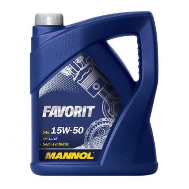 Моторное масло Mannol Favorit SAE 15W-50 A3/B3 5 л