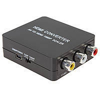 Конвертер AV 3RCA/HDMI (коробка)