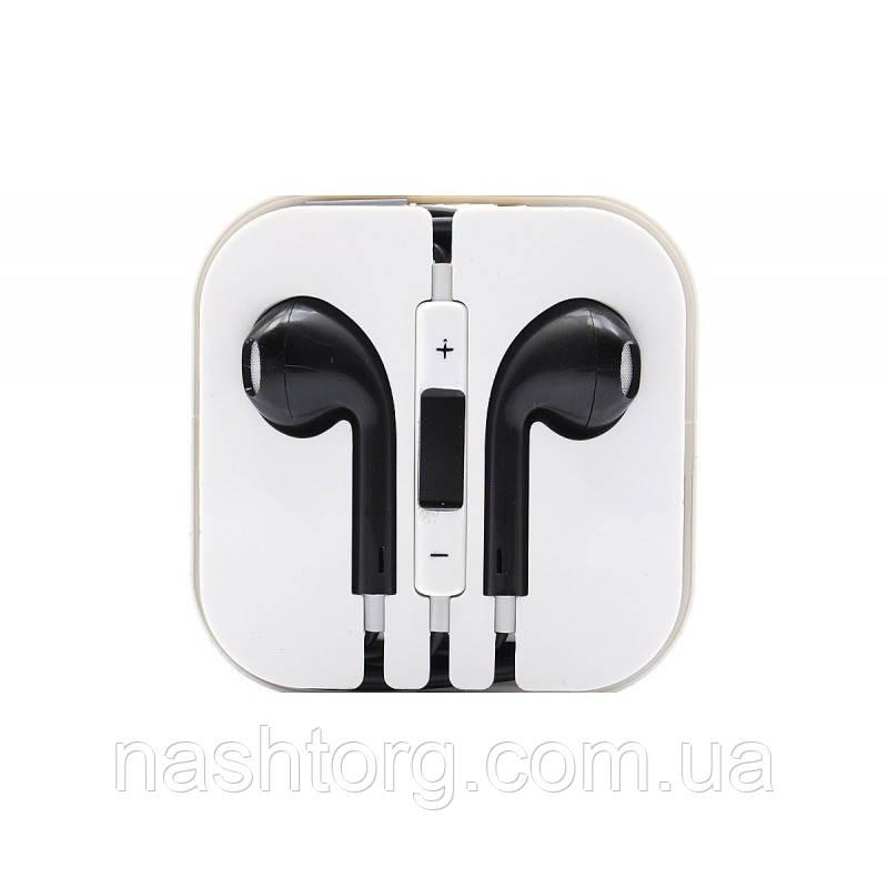 Наушники-гарнитура для телефона с микрофоном EarPods - чёрные -  Інтернет-маркет