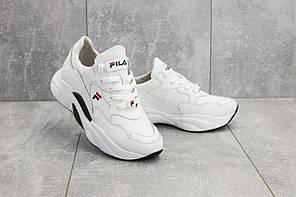 98952bc8 Женские кожаные кроссовки на платформе Fila Onward белые топ реплика, фото 2