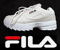 de25ca8a3 Кроссовки женские (подростковые) Fila Disruptor (Фила Дизраптор) реплика.  Белые сникерсы Fila
