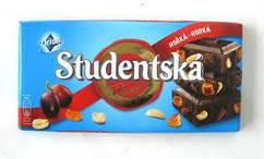 Шоколад Studentska Original  ( с арахисом , желе, изюмом) Студенческая печать 200 гр